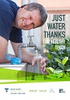Just water thanks for healthy teeth poster